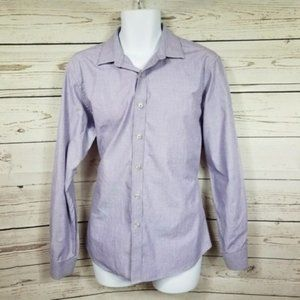 APT9 slim fit purple button down long sleeve shirt